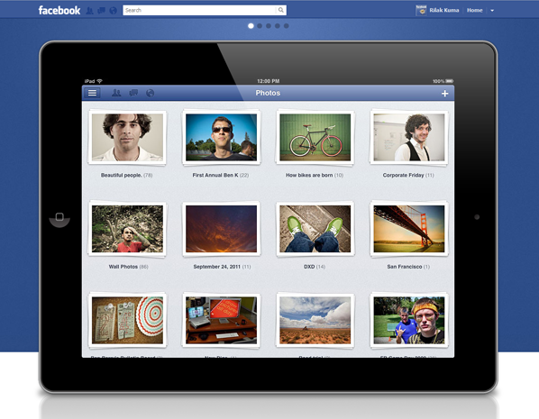 facebook2 Facebook app  iPad  !!