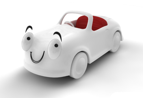 toon car render    
