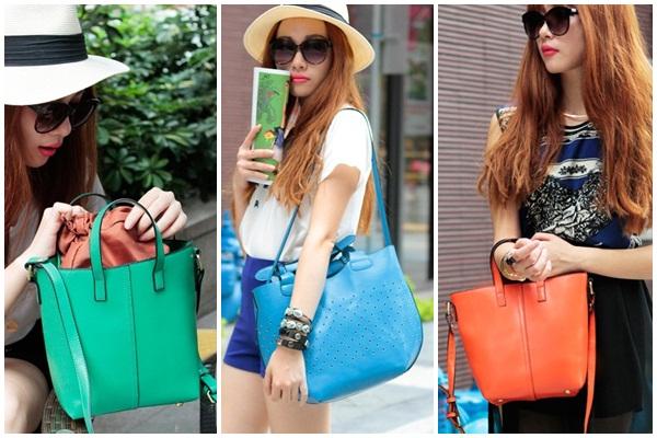 กระเป๋าแฟชั่นฮ่องกง Axixi ดีไซน์เก๋ สีสุดจี๊ดจาก Tomuya Shop