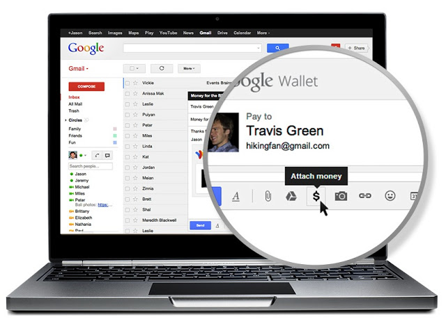 google wallet   Gmail   Google