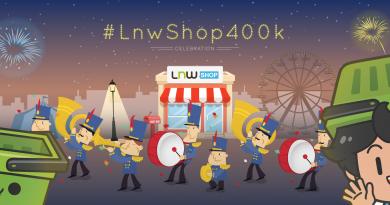 LnwShop ฉลอง 400,000 ร้านค้า มีกิจกรรมดี ๆ มาฝาก !!
