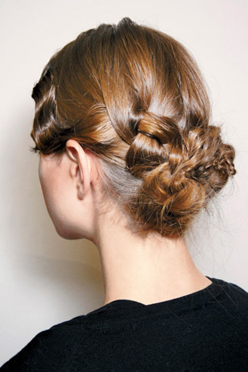 22. Braided Updos Varying your braid size gives a 3-D effect. Watch Theodore Leaf recreate a similar style in this video how-to.