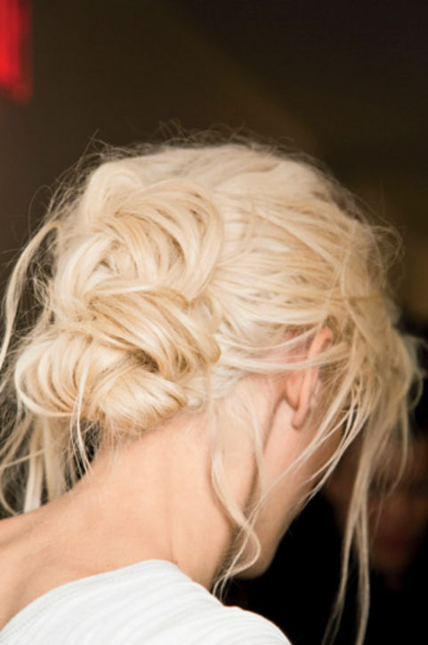 28. Tousled Braids Braid, loosely pin, and go to bed. This style looks best the next day!