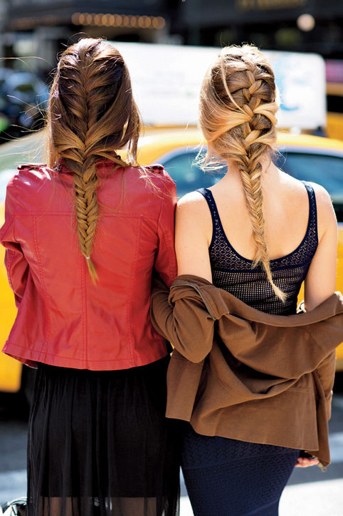 29. Tousled Braids Go for an upgraded French braid. No touch-ups needed: even when it rains!