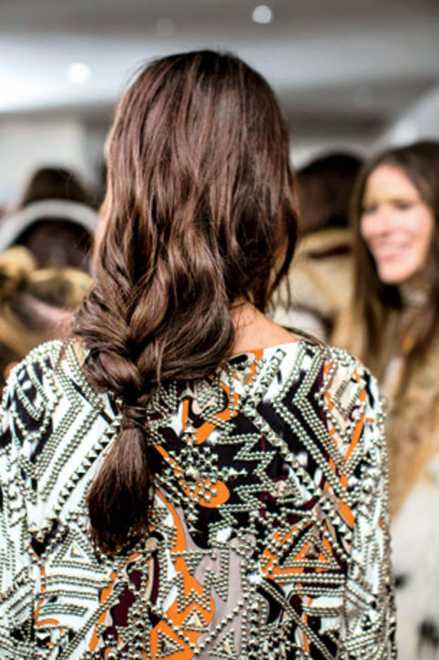 30. Tousled Braids Try a half-braid. It's a lazy girl's go-to.
