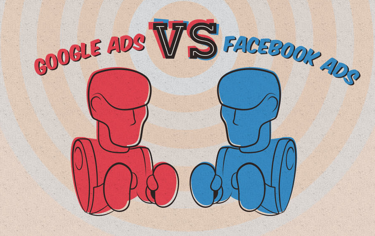 หมัดต่อหมัด Google Ads Vs Facebook Ads [infographic]