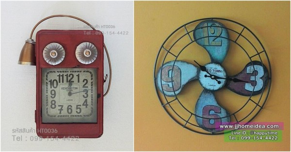 นาฬิกาวินเทจติดผนัง