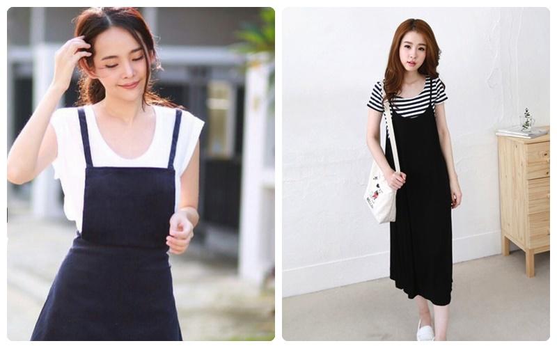 ชุดเอี้ยมสีขาวดำ