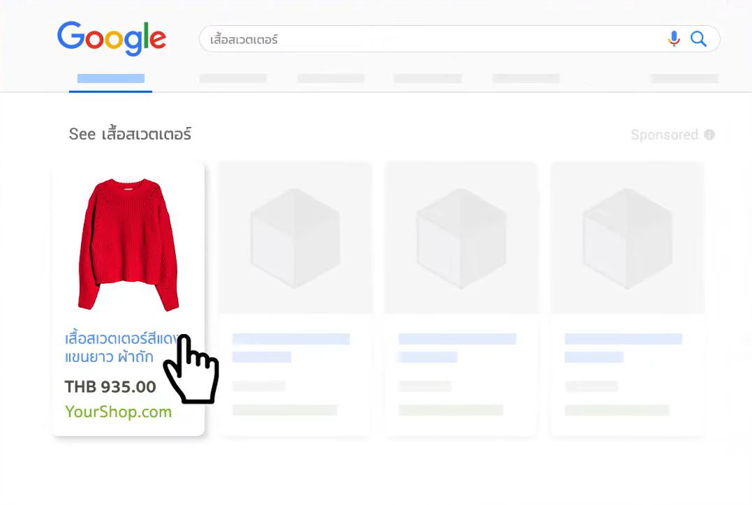 คลิกสินค้าบนโฆษณา Google Shopping Ads