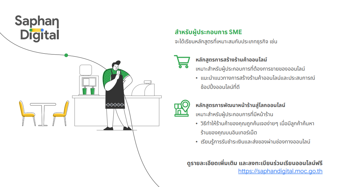 Saphan Digital สำหรับผู้ประกอบการ SME