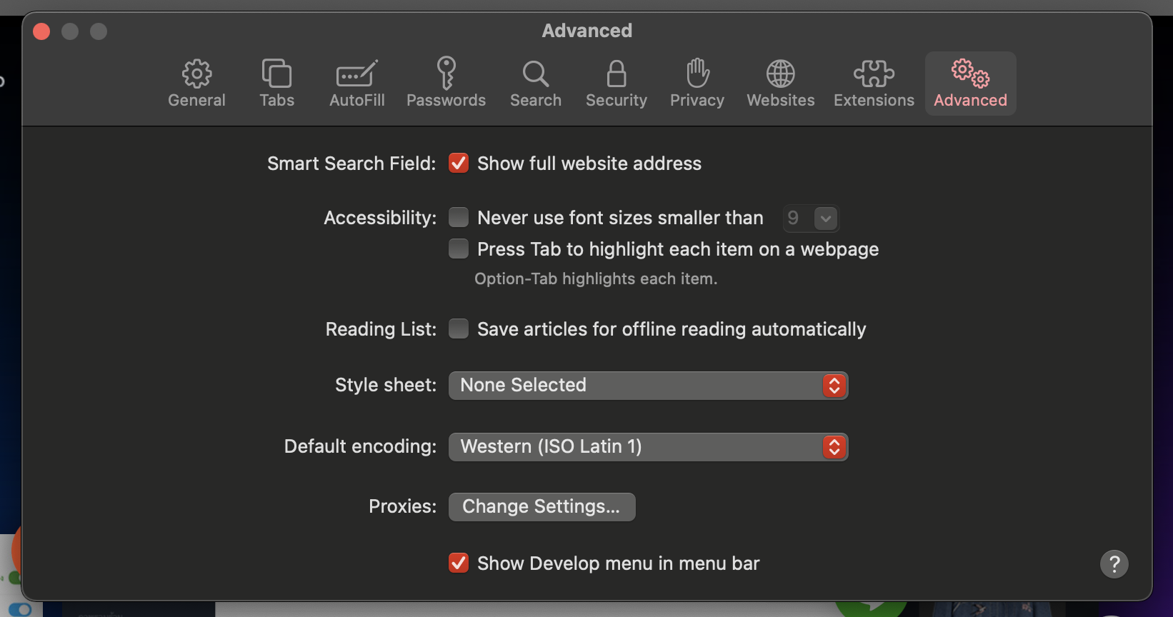 Clear cache on Safari - MAC