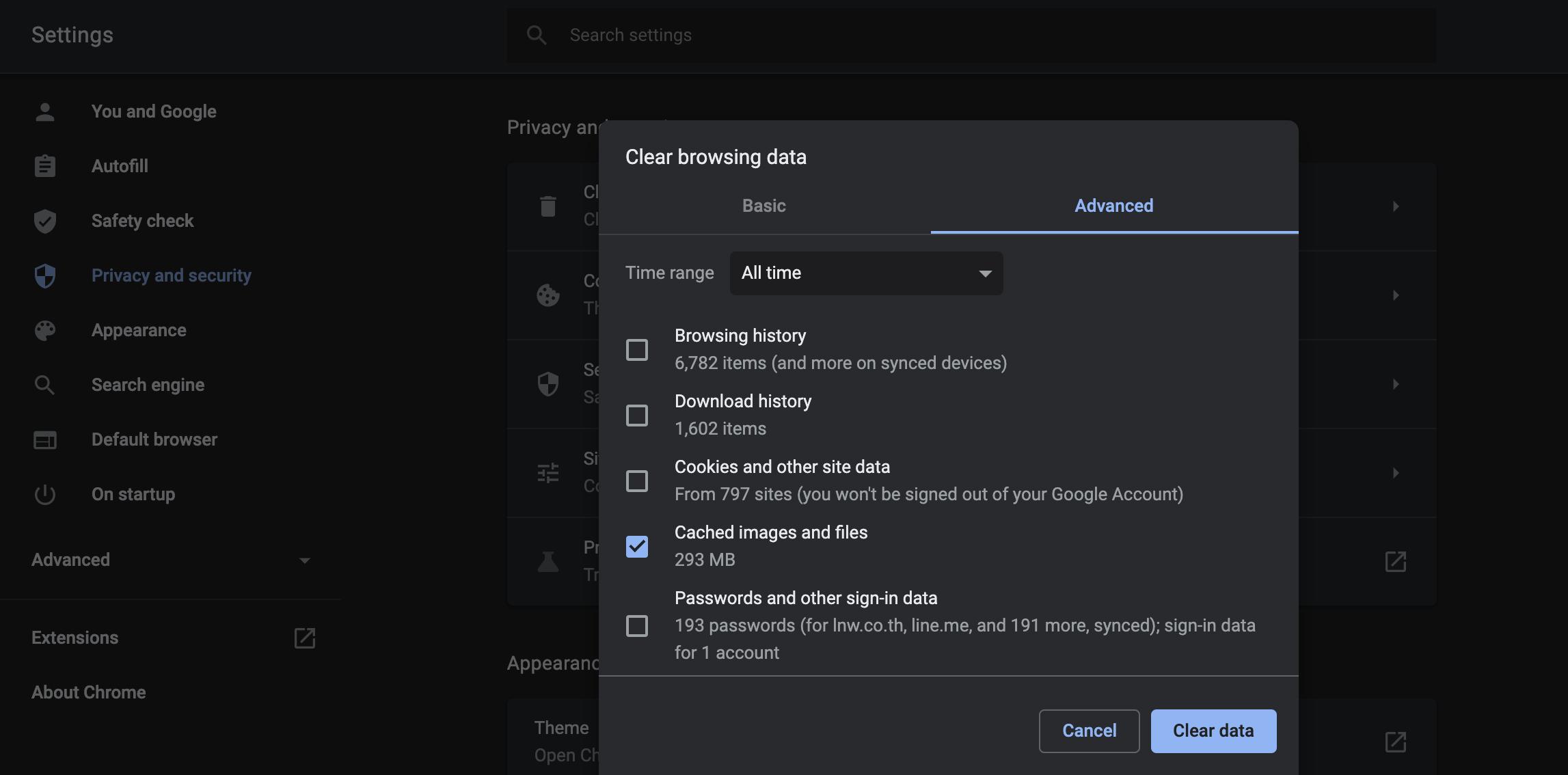 Clear cache on Google chrome - MAC